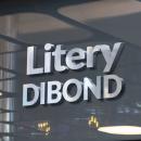 Litery z Dibondu